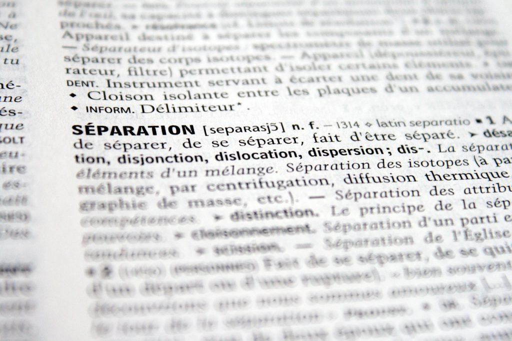 Separation Legal Terms Explained.