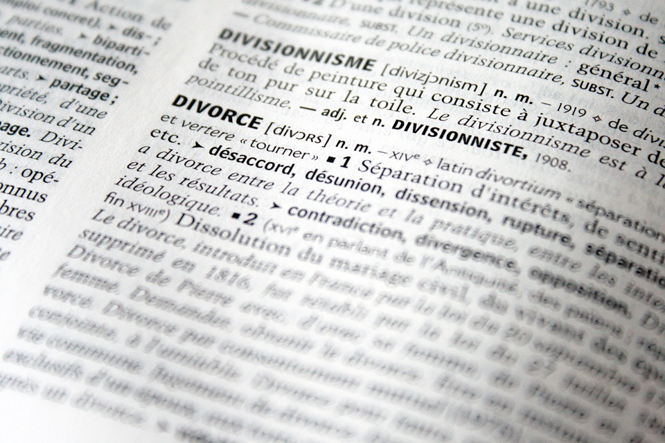 Legal divorce terms - a divorce glossary.