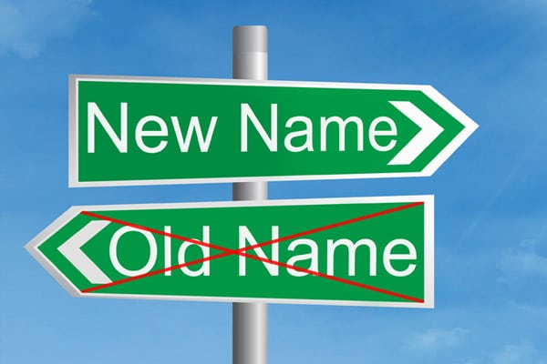 Changing your name following a divorce.