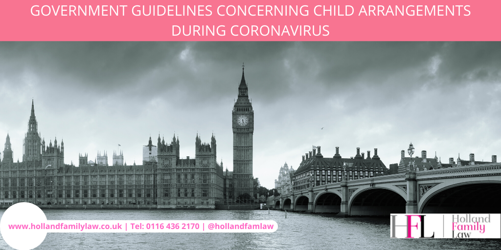 Government guidelines on child arrangements during coronavirus.