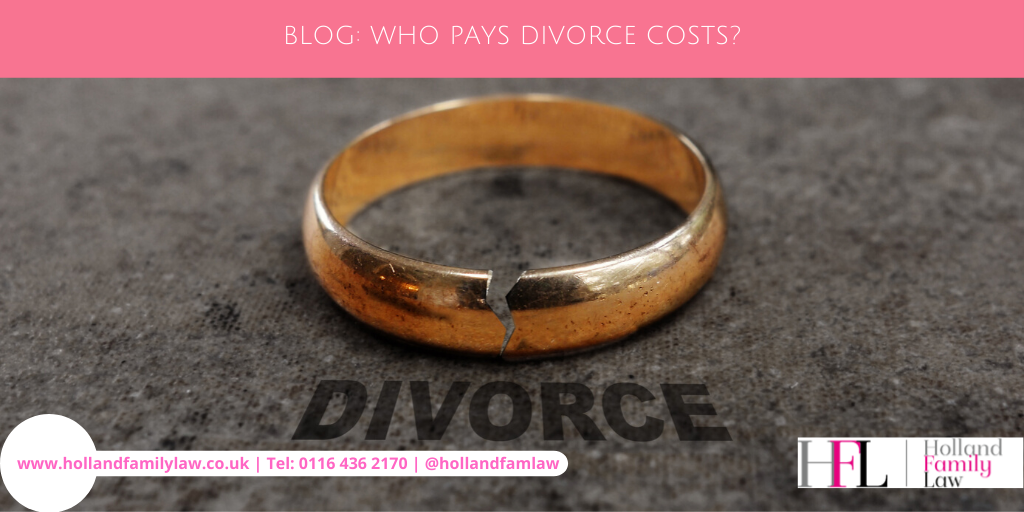 Who's responsible for paying for a divorce?