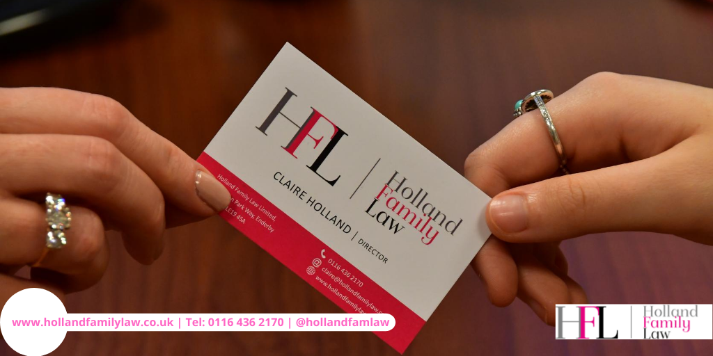 Holland Family Law Leicester Business Card.