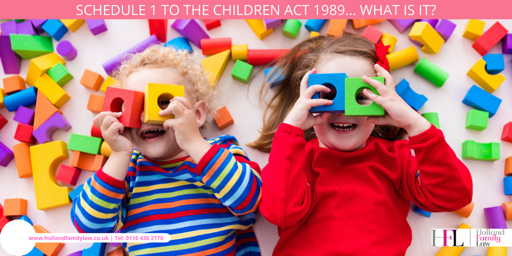 What is the Schedule 1 to the Children Act 1989?