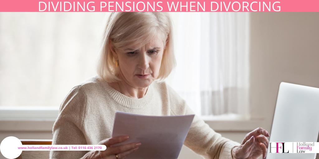 Elderly lady assesses dividing pensions.