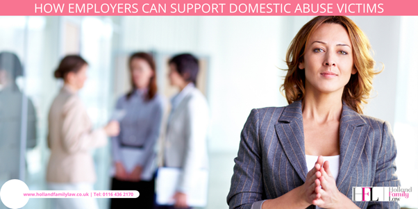 An employer offering support for domestic abuse victims.